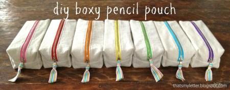 boxy pencil pouch
