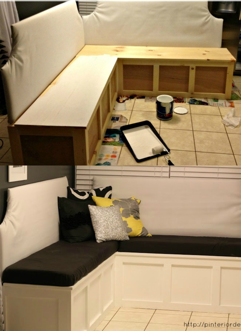 Remodel Your Rooms By Put Corner Storage Bench Build a Custom Corner Banquette Bench
