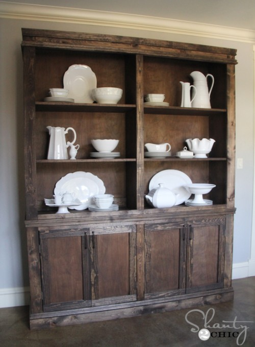 Remodelaholic | Create a Kitchen Hutch From an 80's Wall Unit