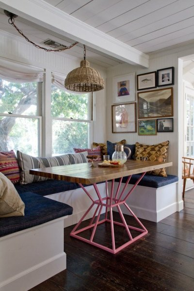Pleasing Remodelaholic Build A Custom Corner Banquette Bench Onthecornerstone Fun Painted Chair Ideas Images Onthecornerstoneorg