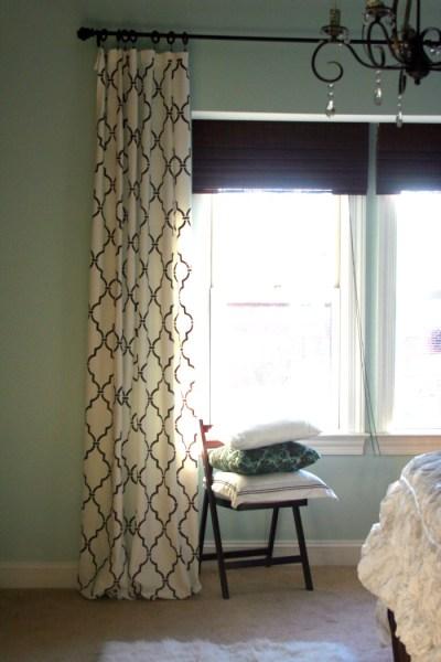 quatrefoil trelllis stenciled curtains, Home Stories A to Z