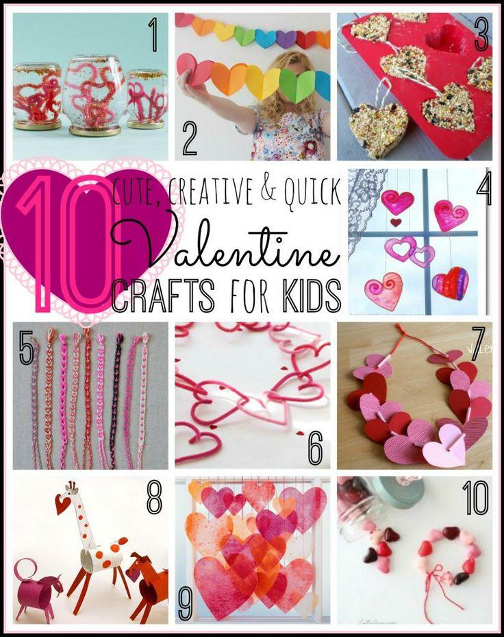 10 Valentine Crafts for Kids - Remodelaholic.com