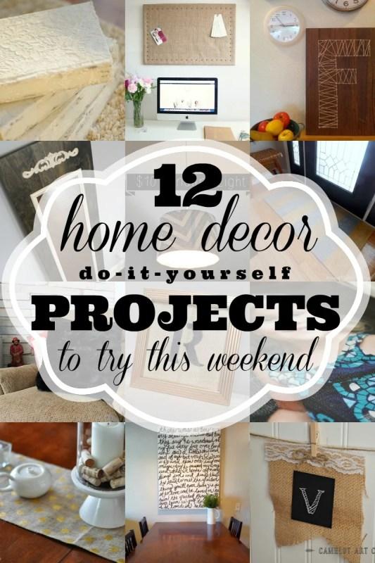 12 Home Decor DIYs to try this weekend via Remodelaholic.com