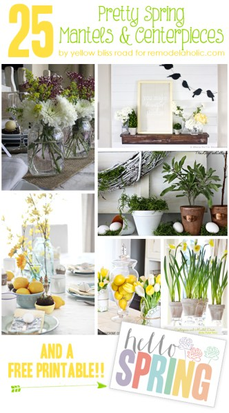 25 spring mantels and centerpieces