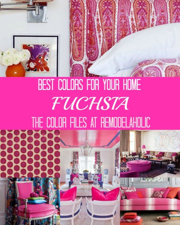 Best Colors for Your Home: Fuchsia via Remodelaholic.com #colorfiles #remodelaholic