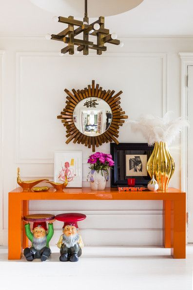 Adler house with orange