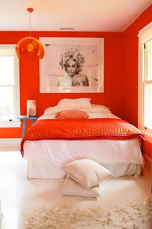 Orange Saturated Room