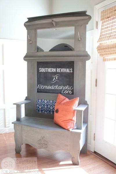 Southern Revivals   Vintage Halltree Makeover on Remodelaholic