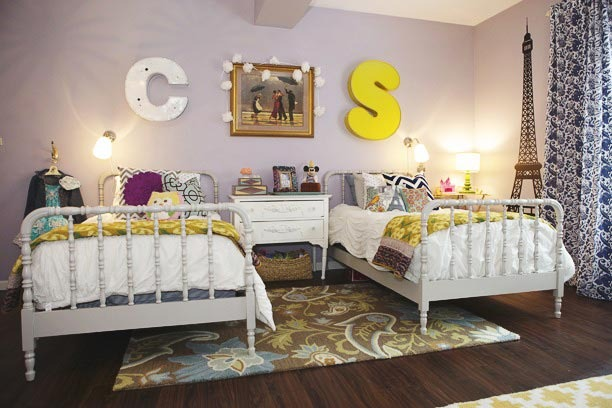Remodelaholic Get This Look Girls Shared Bedroom Symmetry