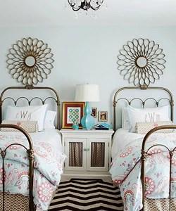 girls shared bedroom symmetry thumb crop