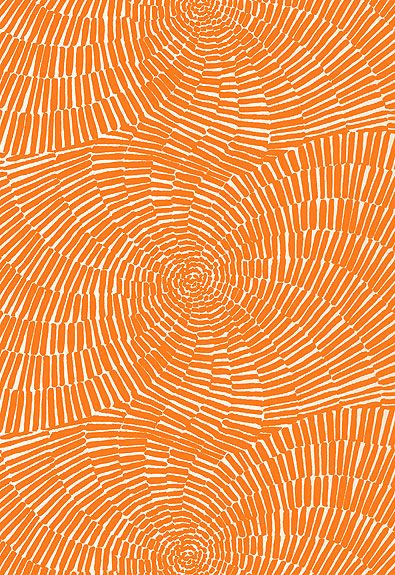 orange schumacher fabric
