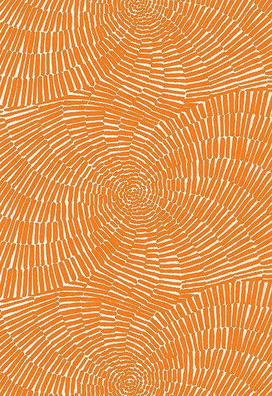 orange schumacher fabric