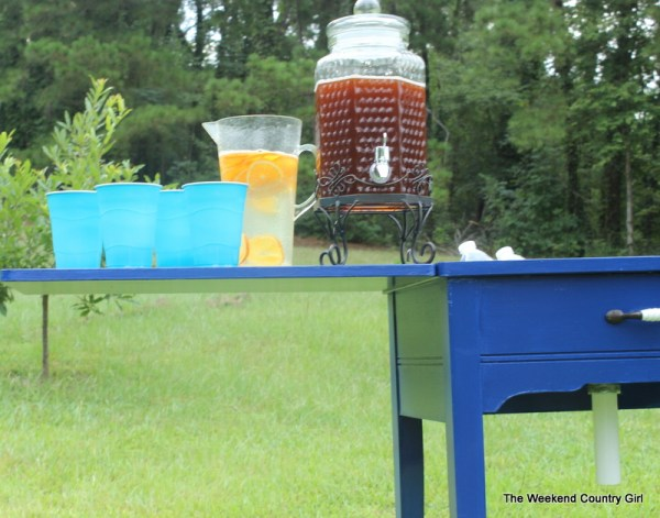 sewing cabinet into drink cooler, The Weekend Country Girl featured on Remodelaholic