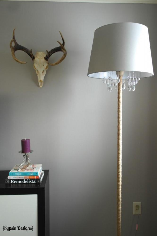 Upcycled Diy Chandelier Lamp Sypsie Designs Featured On Remodelaholic