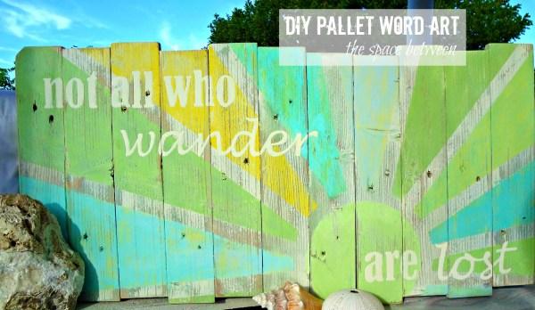 pallet word art