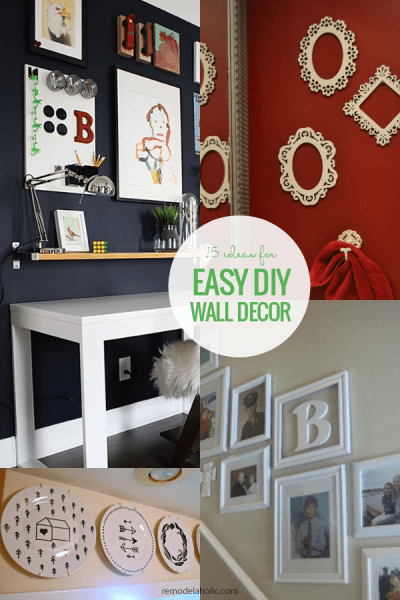 15 Easy DIY Wall Decor Ideas And Tutorials #remodelaholic