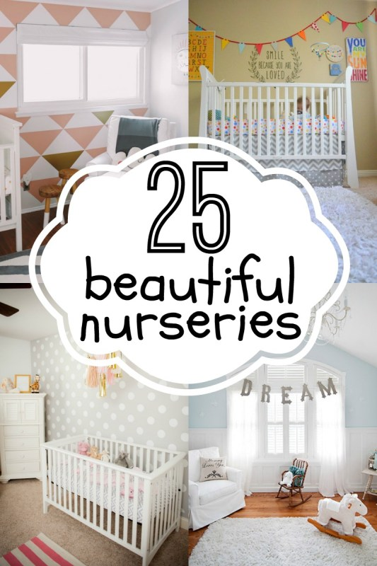 25 Beautiful Nurseries via Remodelaholic.com