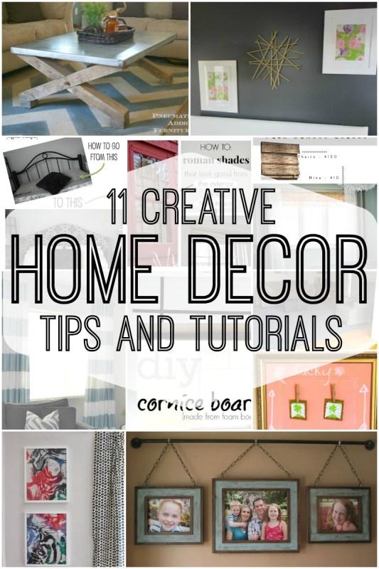 11 Creative Home Decor Tips and Tutorials via Remodelaholic.com
