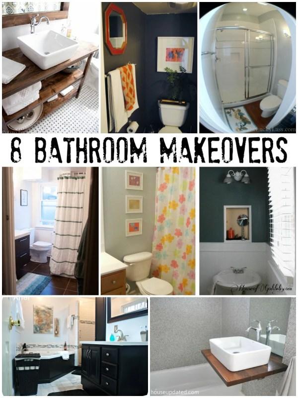 Inspiring Bathroom Makeovers via Remodelaholic.com