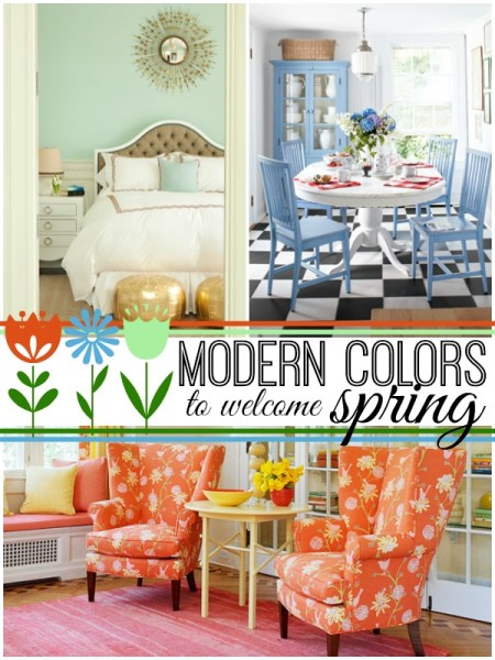 Modern Spring Colors via Remodelaholic