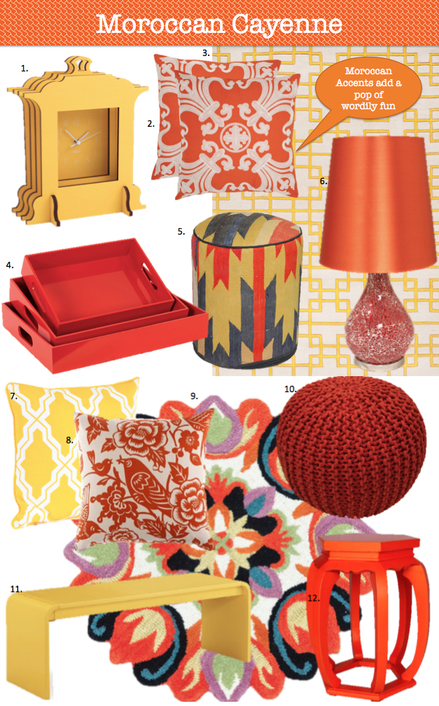 Moroccan Cayenne Modern Spring Colors