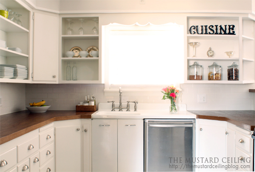 The Mustard Ceiling Wood Door Countertops