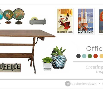 Officing Around the World – Creating a colorful, travel-inspired home office