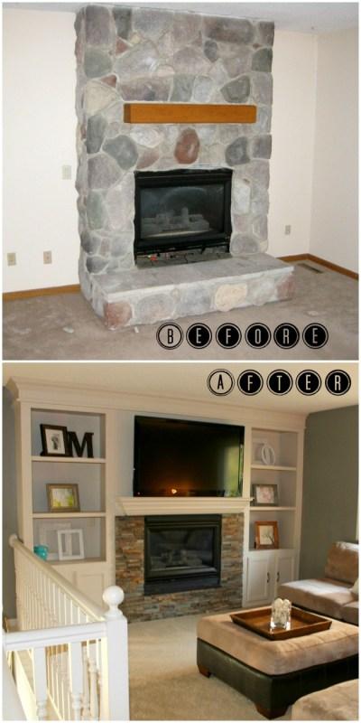 Diy Fireplace Makeover Tile