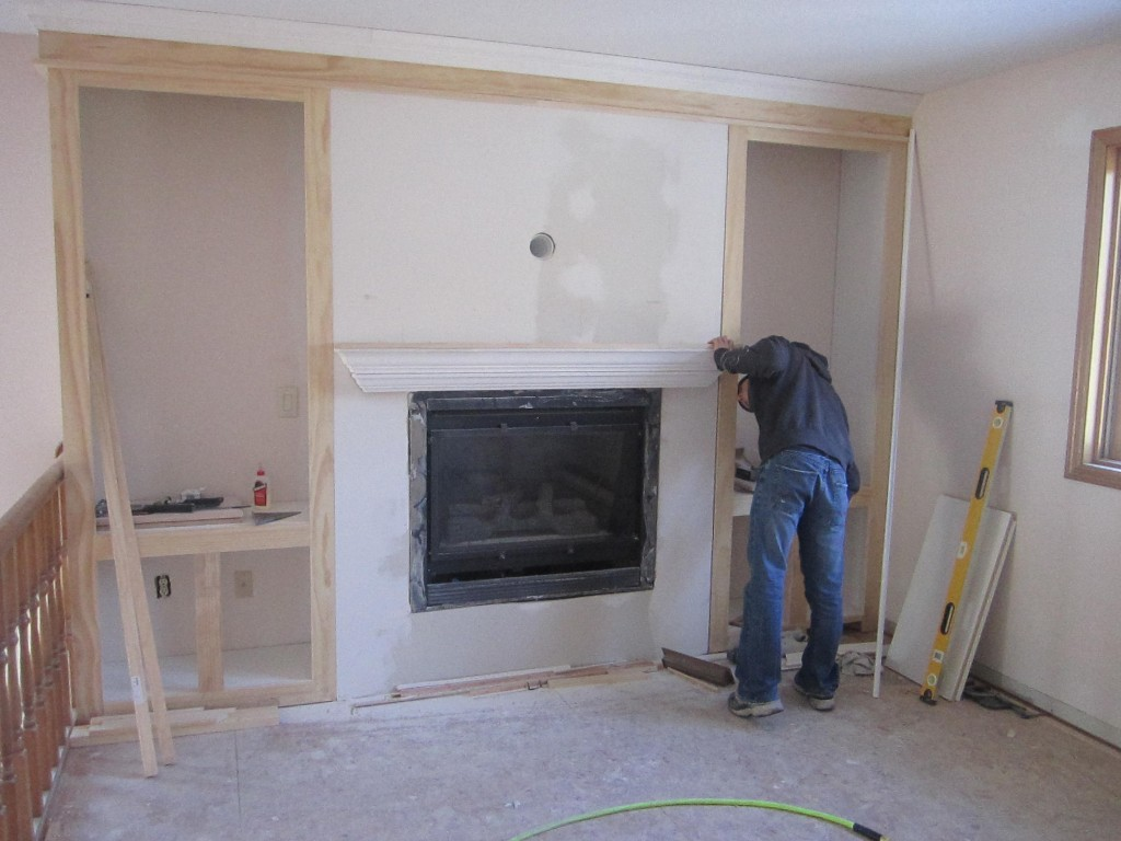 Remodelaholic Fireplace Makeover With Built In Shelves