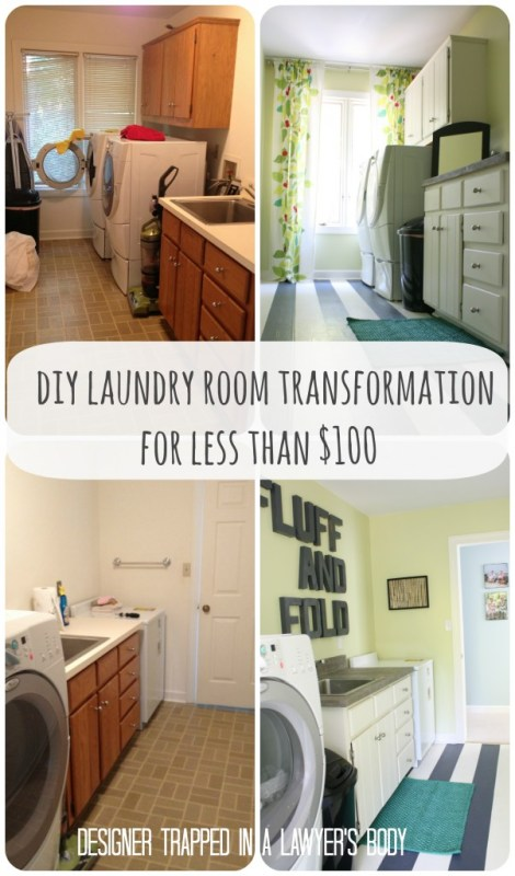 low cost laundry room transformation, Designer Trapped in a Lawyer's Body featured on Remodelaholic
