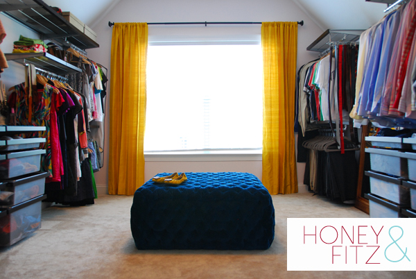 master closet dressing room. Honey and Fitz on Remodelaholic