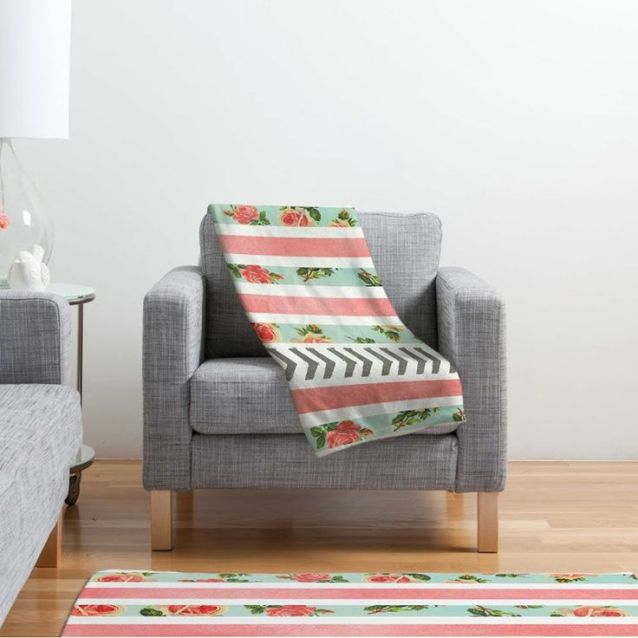 Floral pattern and stripes from Deny Designs