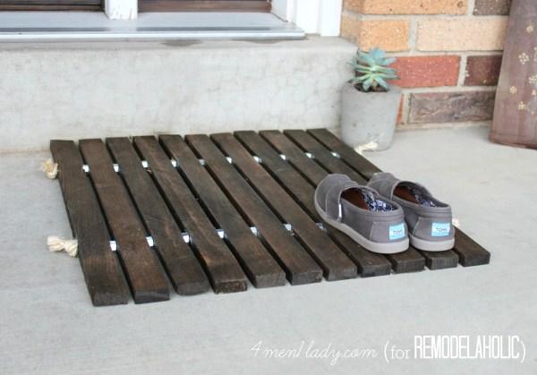 DIY Wood Stake Doormat