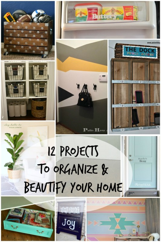 12 Weekend Projects to Beautify and Organize Your Home via Remodelaholic.com