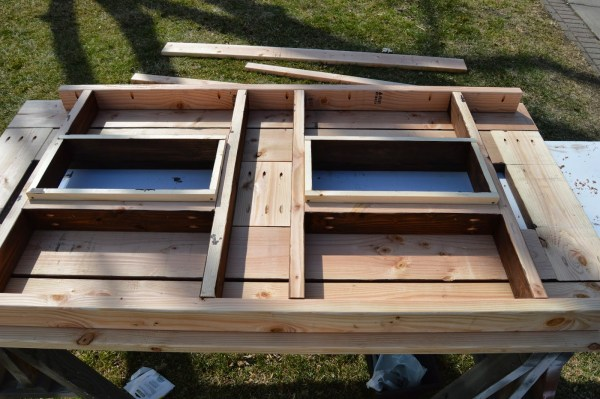 add skirting to ice box frames on patio table, Kruse's Workshop on Remodelaholic