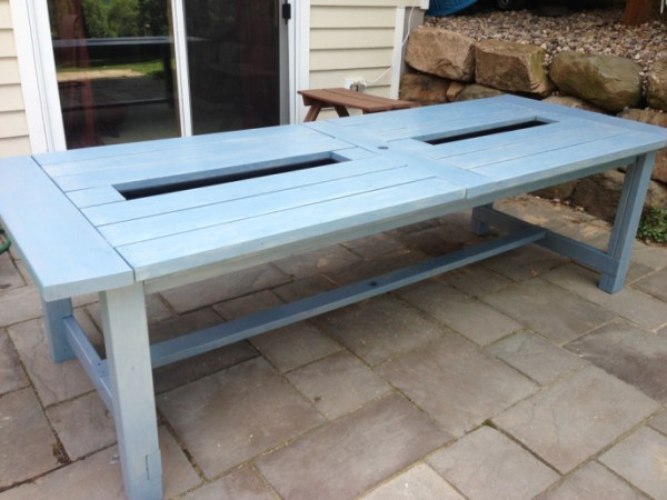 Built In Cooler Picnic Table By Adventures In Diy, On @Remodelaholic