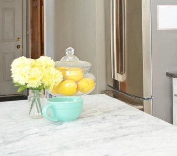 White Kitchen Overhaul with DIY Marble Island