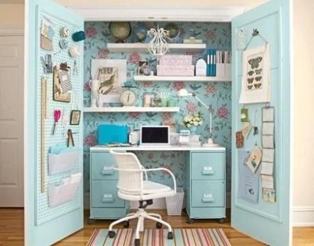 floral closet office via Remodelaholi