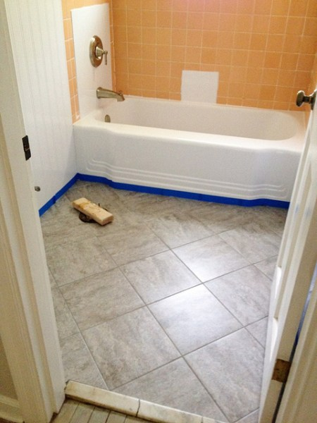 grouted peel and stick flooring