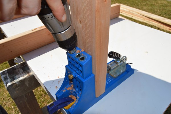 kreg jig to build ice box frames for patio table 4, Kruse's Workshop on Remodelaholic