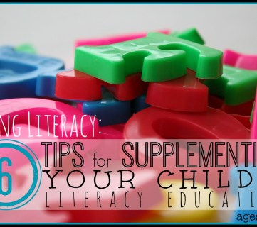 Loving Literacy: 6 Tips for Supplementing Your Child's Literacy Education (ages 6-9)