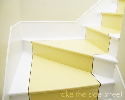 painted stair runner, Take The Side Street on Remodelaholic