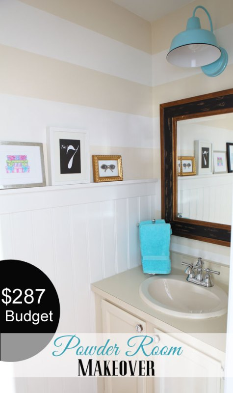 powder room makeover, In My Own Style