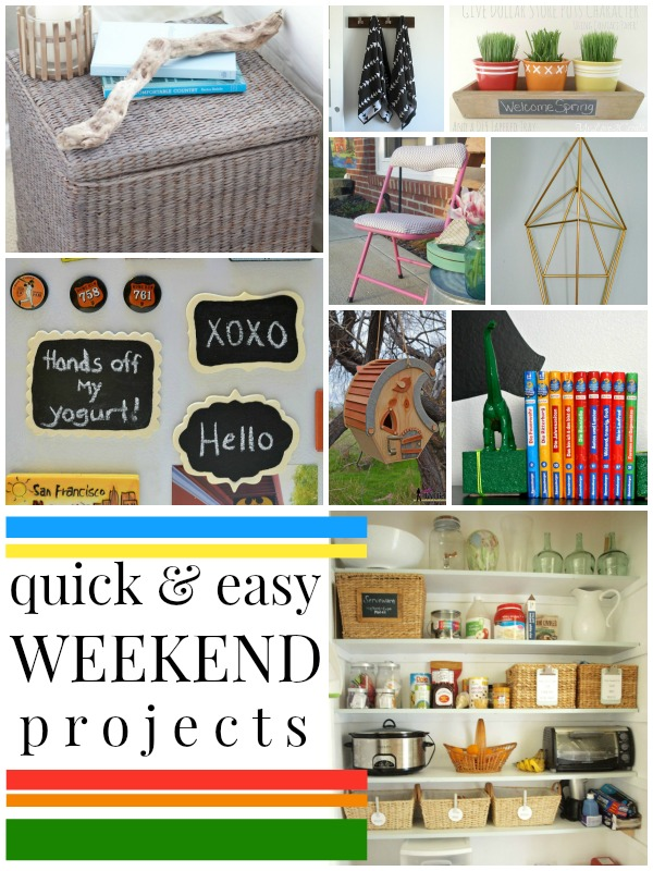 9 Quick and Easy Weekend Projects via Remodelaholic.com