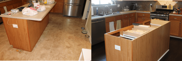 remove old countertops to replace, The Ragged Wren on Remodelaholic