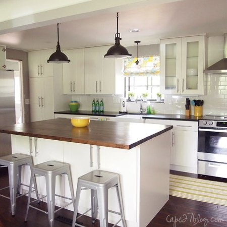 white ranch kitchen makeover, Cape 27 on Remodelaholic