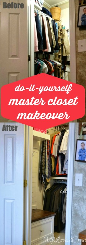 DIY master closet makeover, MyLove2Create on Remodelaholic