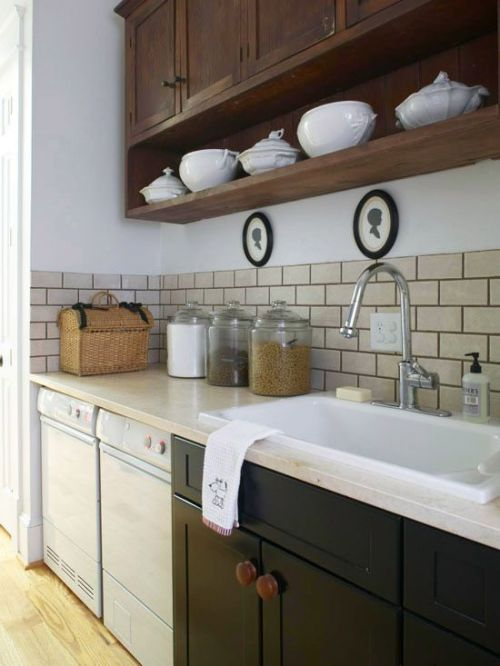 Formal pretty storage in Laundry room