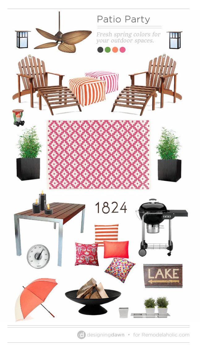 Patio Party: Fresh spring colors for your outdoor spaces   DesigningDawn.com on #Remodelaholic