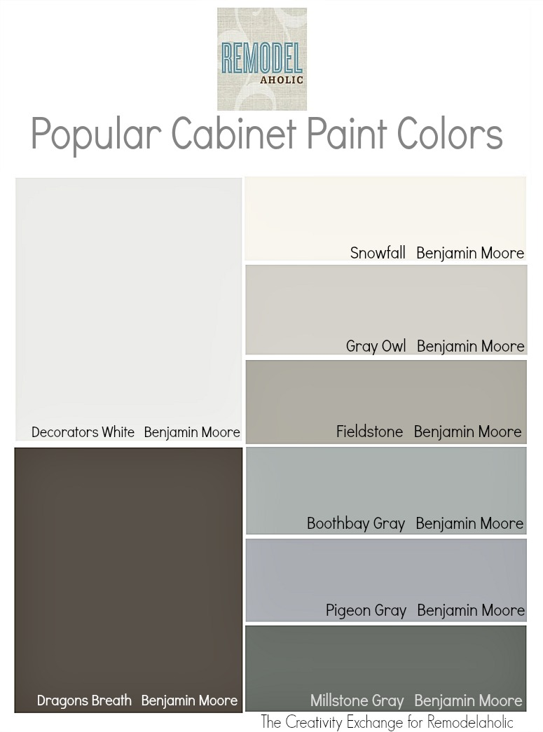 Remodelaholic Trends In Cabinet Paint Colors - Best gray paint for kitchen cabinets